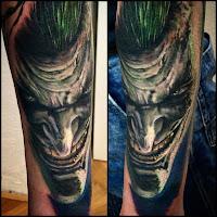 Tatuaje de The Joker malvado