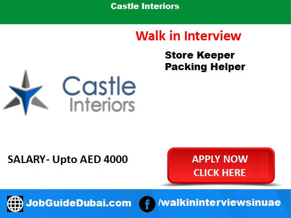 Job in Dubai for storekeeper and packing Helper