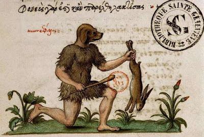 Рассказы о псоглавых людях часто встречались в повестях о путешествиях в античности и средневековье начиная с Геродотовского описания Скифии