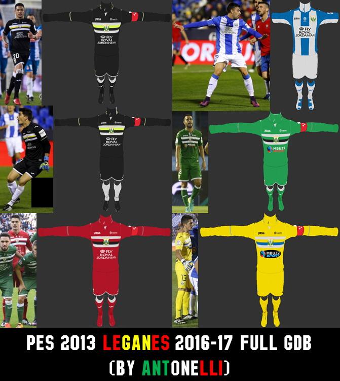PES 2013 Leganes 2016-17 Full GDB (BY ANTONELLI)