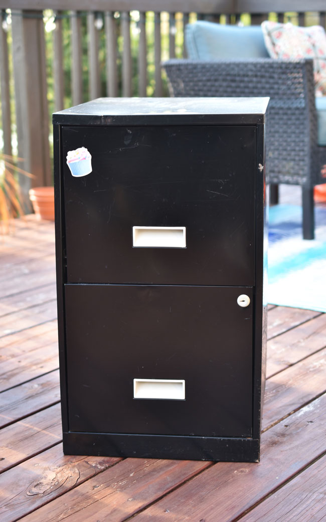For Our Mod Podge Month, I Knew Right Away Just What I Wanted To Do. And It  Cost Me Nothing For The Base Materials. I Had This Old Metal Filing Cabinet  ...
