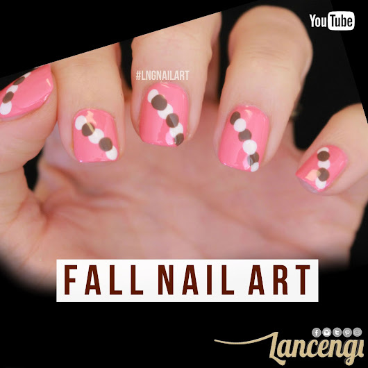Easy Nail Art - Pretty Abstract Fall Manicure