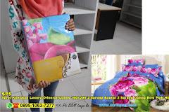 Sprei Kintakun Luxury Oriental Queen 160×200 2 Sarung Bantal 2 Sarung Guling Biru Pink Hijau Bunga Oriental Dewasa Lumiere Tex