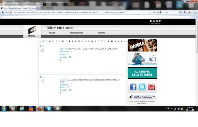 Sony Pictures France hacked by idahc_hacker
