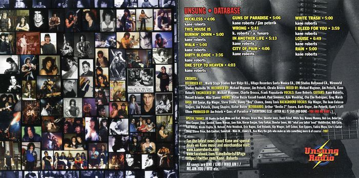 KANE ROBERTS - Unsung Radio [Unsung Records version] booklet