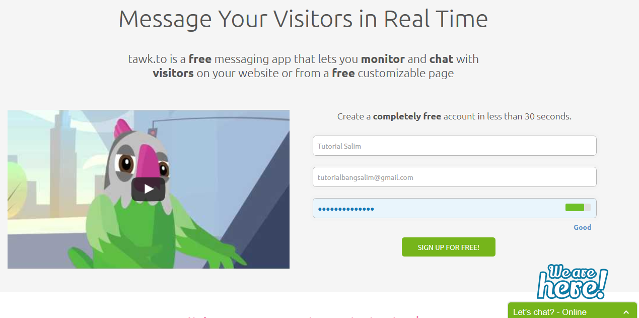 Cara Membuat Live Support Online 24 Jam Gratis Untuk Blog Anda
