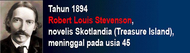 Foto Robert Louis Stevenson meninggal dunia