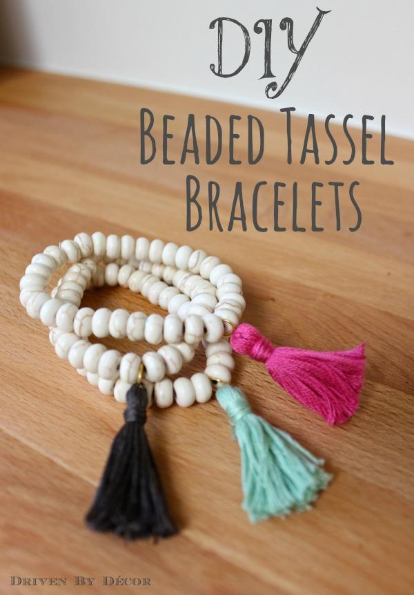 TASSEL ADD ON customise your beaded bracelet
