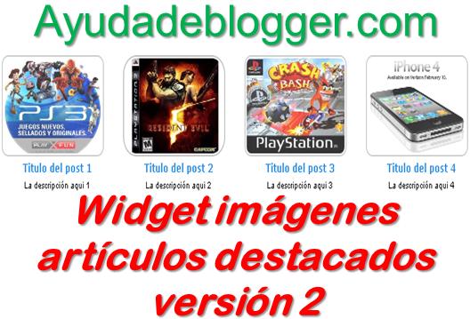 Widget imágenes artículos destacados versión 2