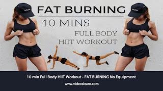10 min Full Body HIIT Workout - FAT BURNING No Equipment