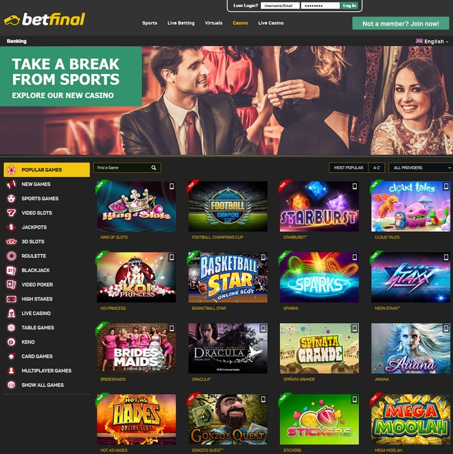 Betfinal Screen