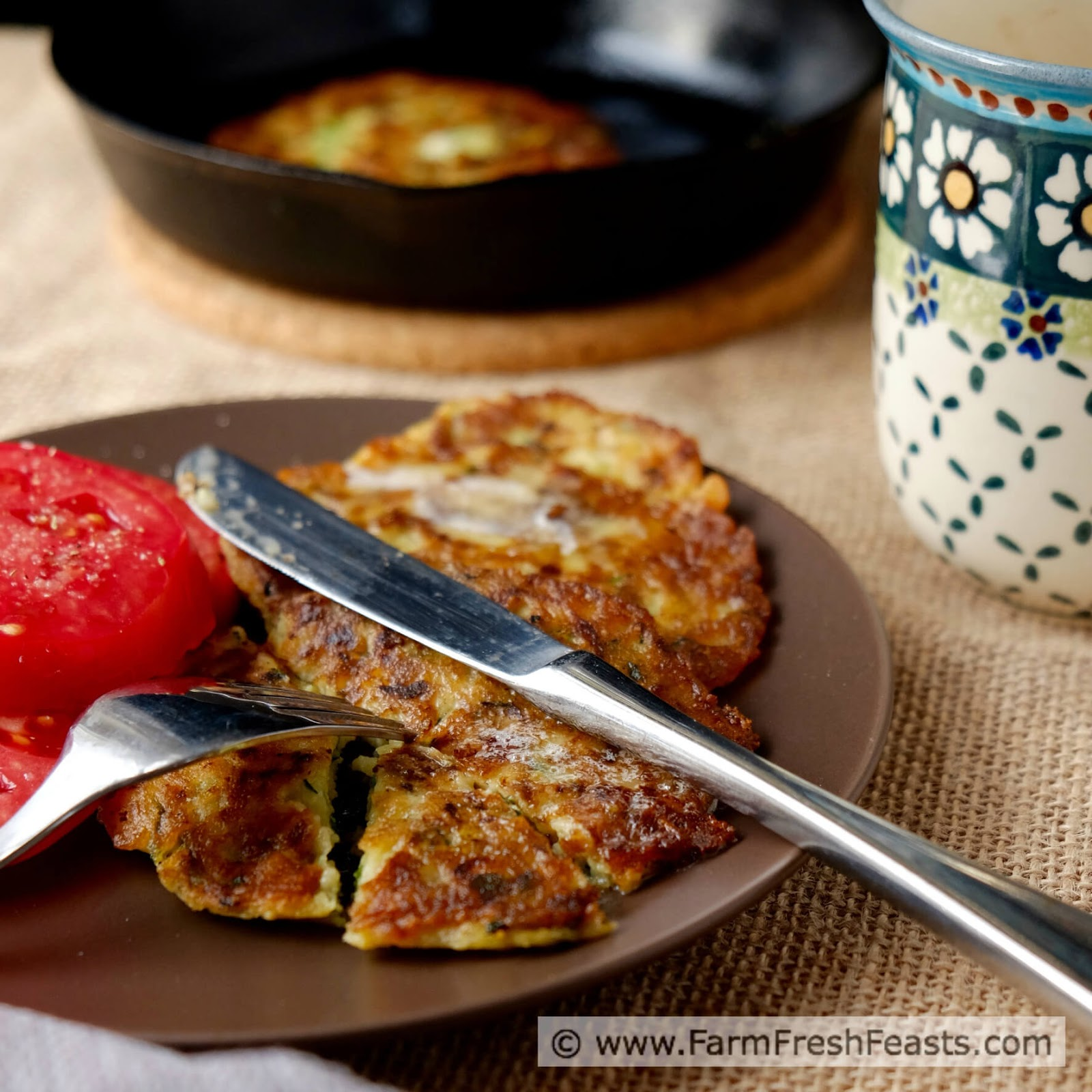Farm Fresh Feasts Zucchini Pancakes for Breakfast Lunch or Dinner