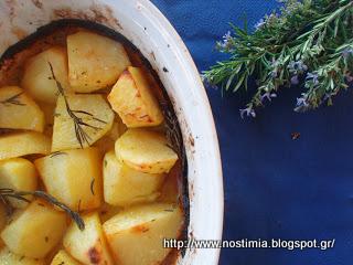 Υπέροχες πατάτες φούρνου με πορτοκάλι κ δεντρολίβανο