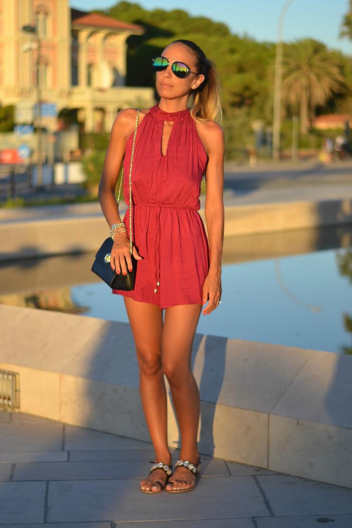 outfit estivo rosso