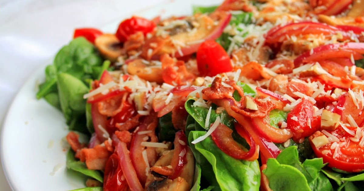 how to make warm spinach salad