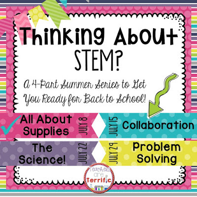 Summer STEM Series: This week is all about collaboration! It's about teamwork, solving problems, and getting those heads together to make it work!