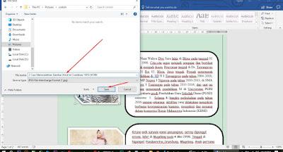 Memindahkan Gambar Word ke Coreldraw