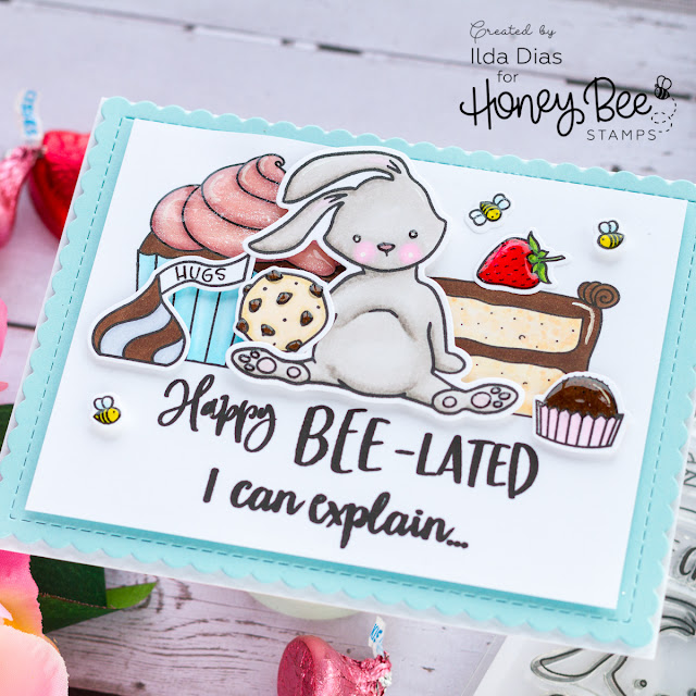 A Sweet Happy Bee-lated Birthday Card for Honey Bee Stamps by ilovedoingallthingscrafty.com