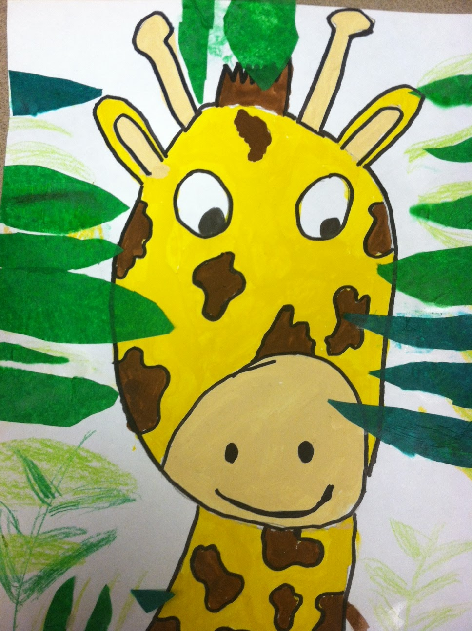 The Crayon Lab: Rousseau Inspired Mixed Media