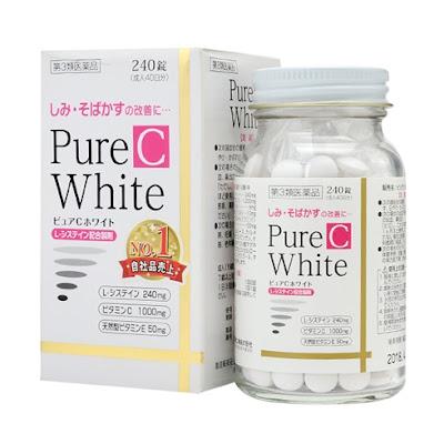 Viên uống trị nám tàn nhang pure white c Nhật Bản