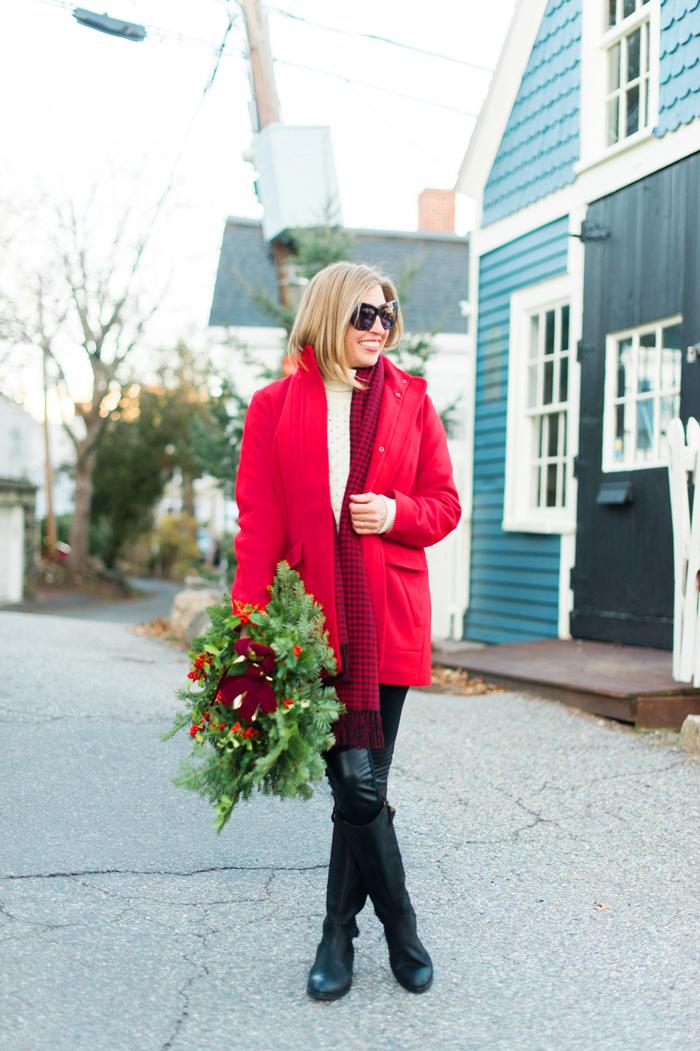 J.Jill red coat