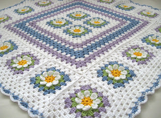 Crochet Granny Squares Baby Blankets Only New Crochet