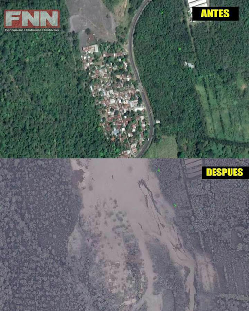before after volcano fuego san miguel los lotes guatemala