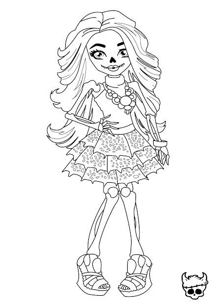 Monster High Halloween Coloring Pages Full Size