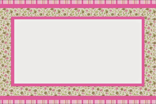 Para hacer Invitaciones, Tarjetas, Marcos de Fotos o Etiquetas, para Imprimir Gratis de Shabby Chic Rosa y Amarillo.