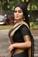 Poorna in Cute Backless Choli Saree Stunning Beauty at Avantika Movie platinum Disc Function ~  Exclusive 065.JPG
