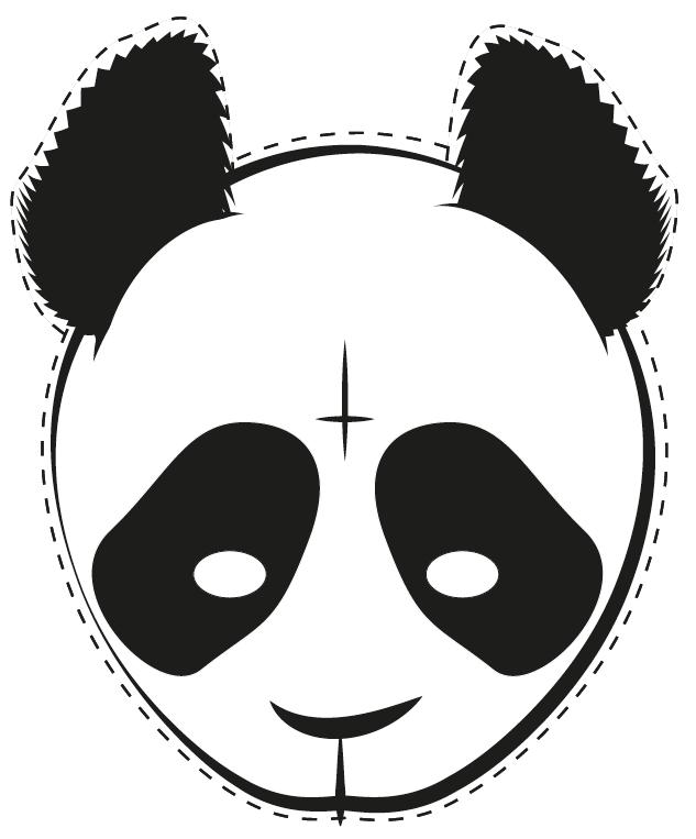 DIY  Cro Die Panda Maske zum Ausdrucken und aufziehen