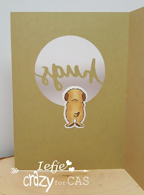 Handmade greeting card with Art Impressions Cat & Dog mini set and Stampin' Up Lovely Words thinlits
