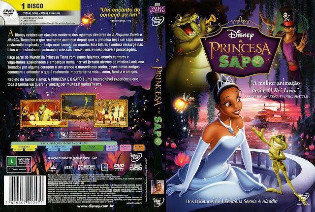 Capa DVD A PRINCESA E O SAPO