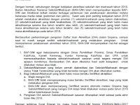 Surat Edaran Daftar Isian Akreditasi 2018
