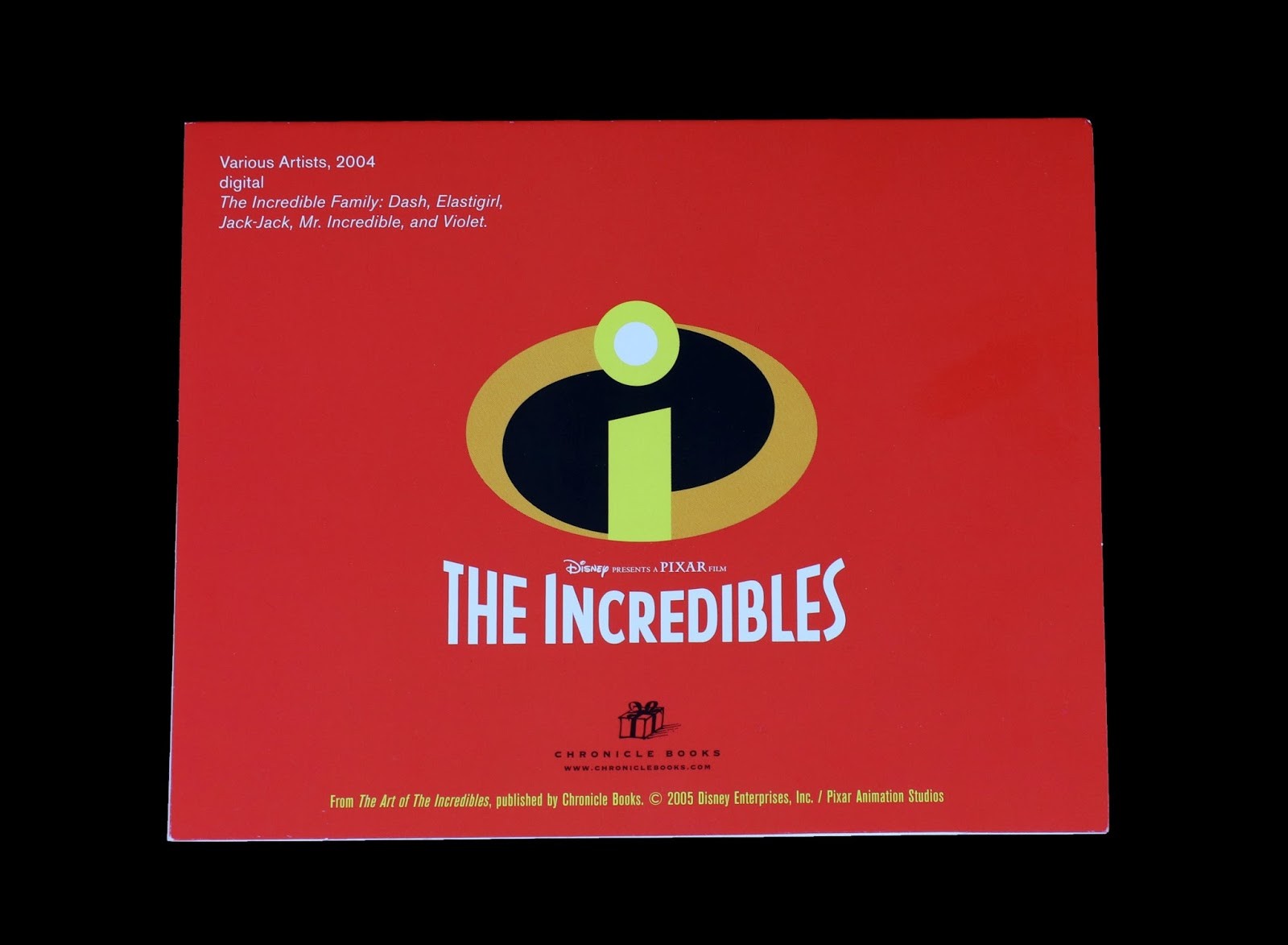 the incredible pixar studio store greeting card