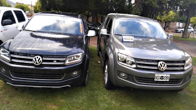 3 Camionetas secuestradas por denuncias de robo