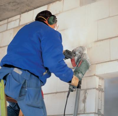 При резке бетона алмазными дисками сухим способом может быть много пыли