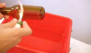 Cara Membuat Gelas Dari Botol Kaca Bekas