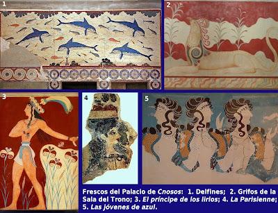 Resultado de imagen de frescos del palacio de knossos