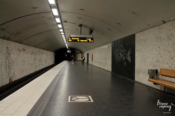 Arte moderno derechos Metro de Estocolmo