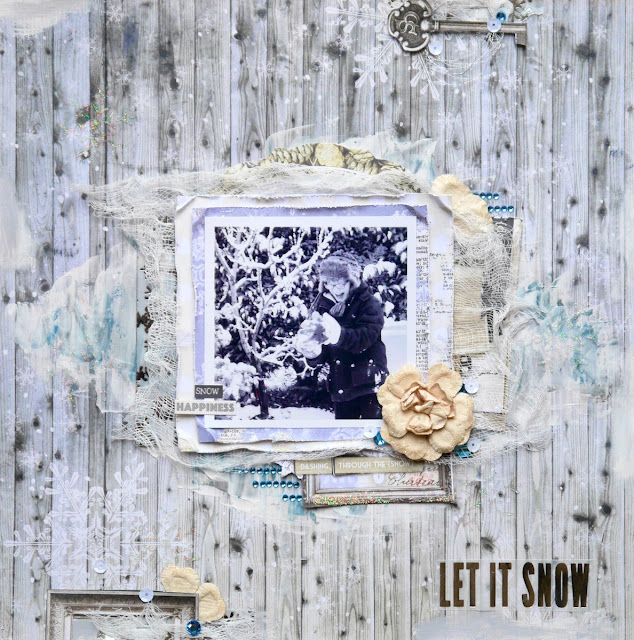 Let it Snow by Katherine Sutton using BoBunny Winter Wishes Collection