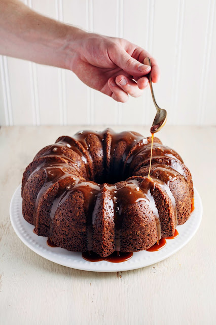Banana Bundt Cake With Salted Dulce De Leche Hummingbird