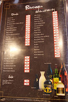 Beverages Menu and Prices in Bono Tei