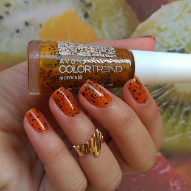 esmalte maracujá avon color trend efeito pontilhado