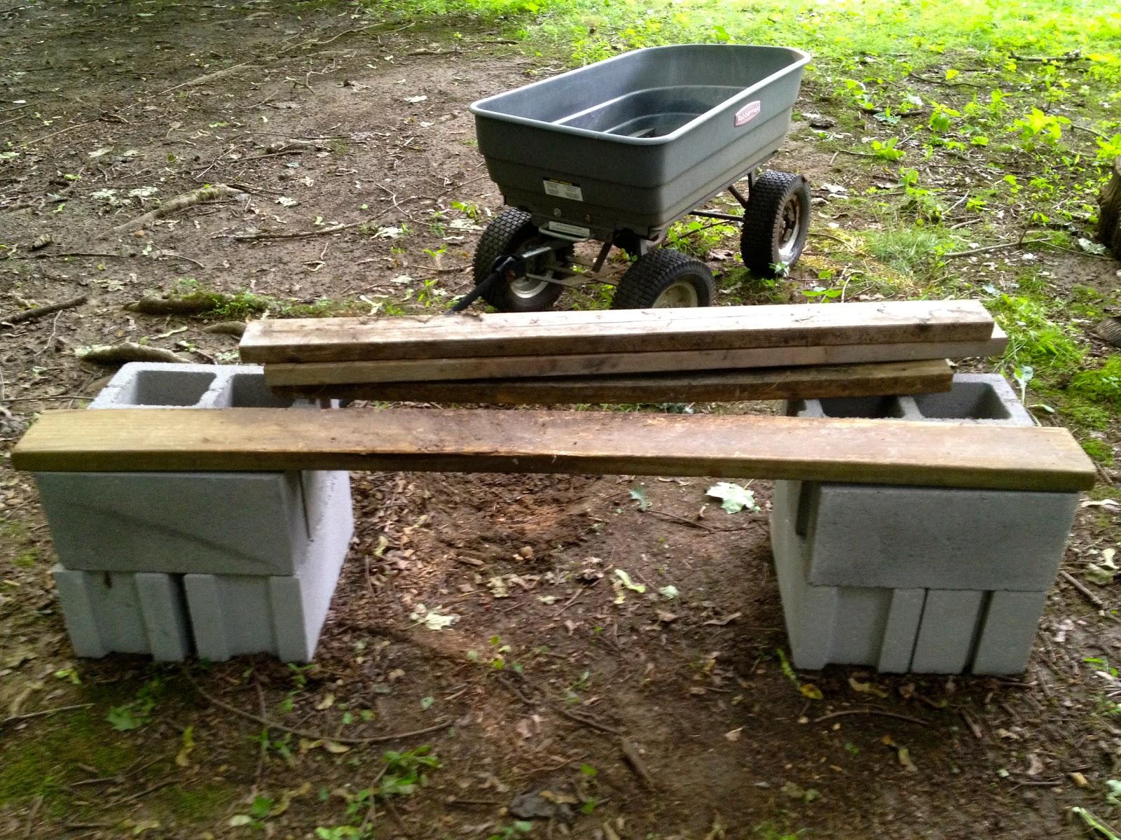 Monsoon Rains Cinder Block Garden Bench