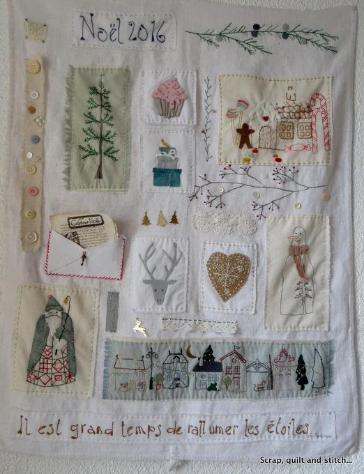 scrap quilt and stitch candle mat. Black Bedroom Furniture Sets. Home Design Ideas