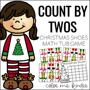 Christmas Shoes Math Tub Game