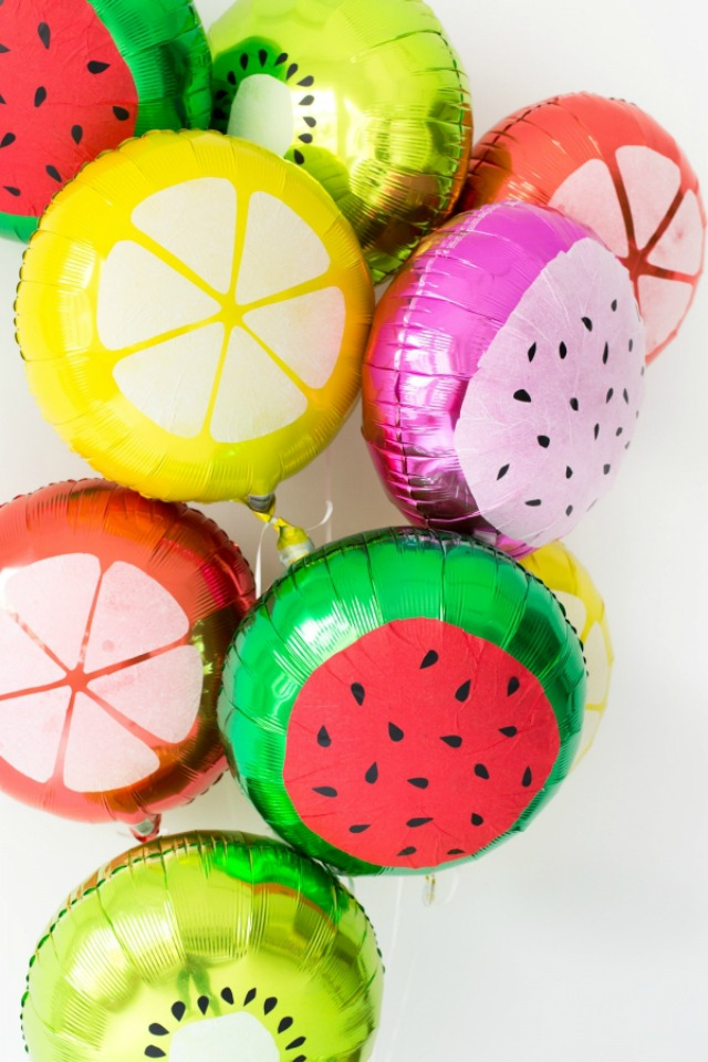Fruit slice balloons!