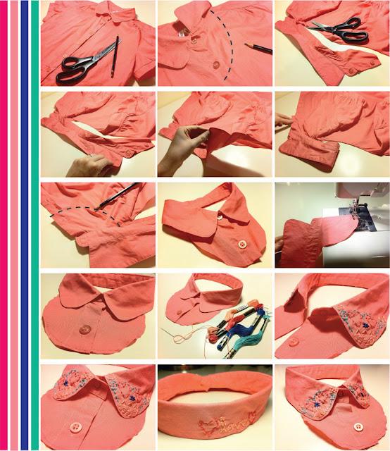 cuellos, baberos, peter pan, accesorios, reciclar, camisas, labores