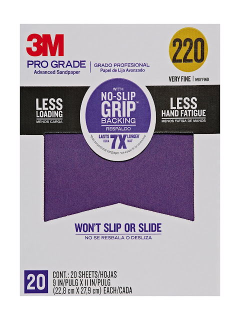 Use 220 Grit Sandpaper to Lightly Sand Cupboards